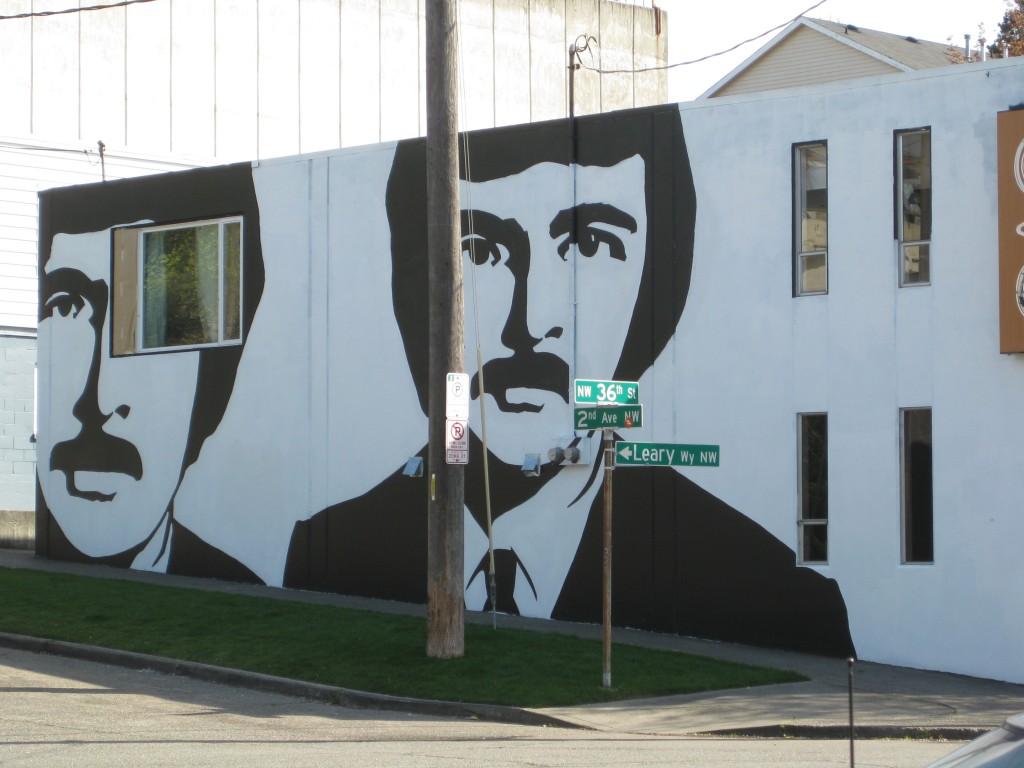 Mustachioed mural