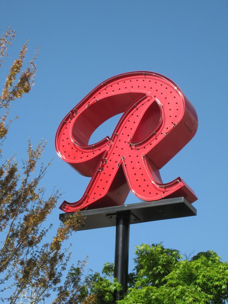 """Huge red """"R"""" fremont"""