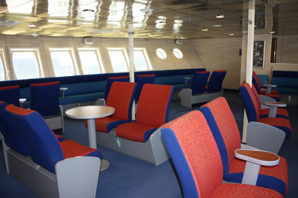 Because everyone rides on the top deck of the ferry, the lower deck has been perfectly preserved in its original 1978 state.