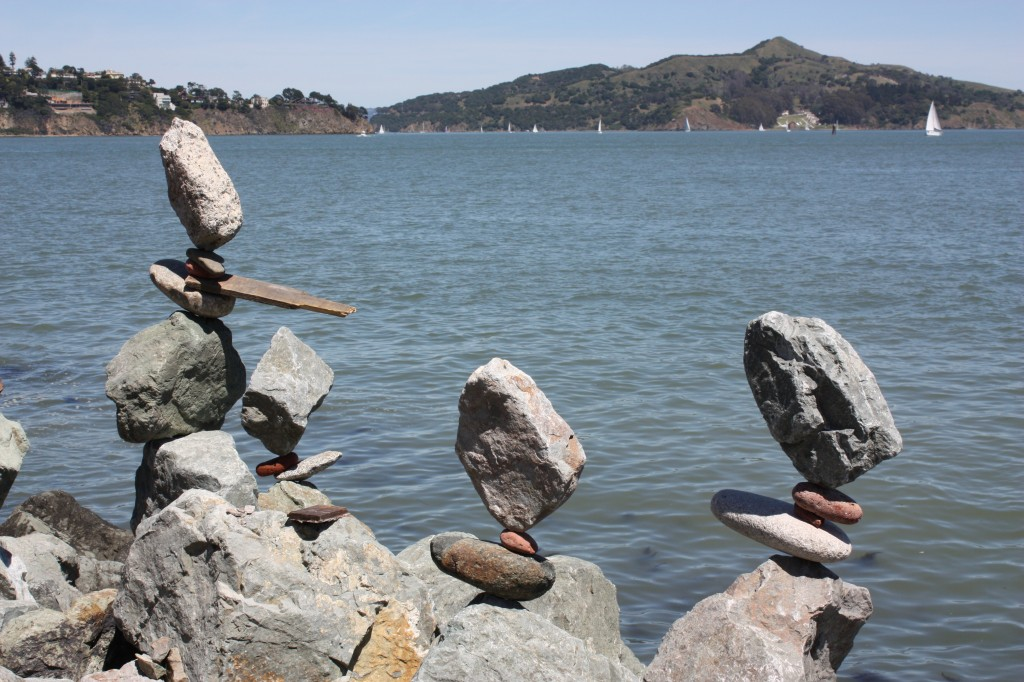 One of Bill's rock balancing sculptures.