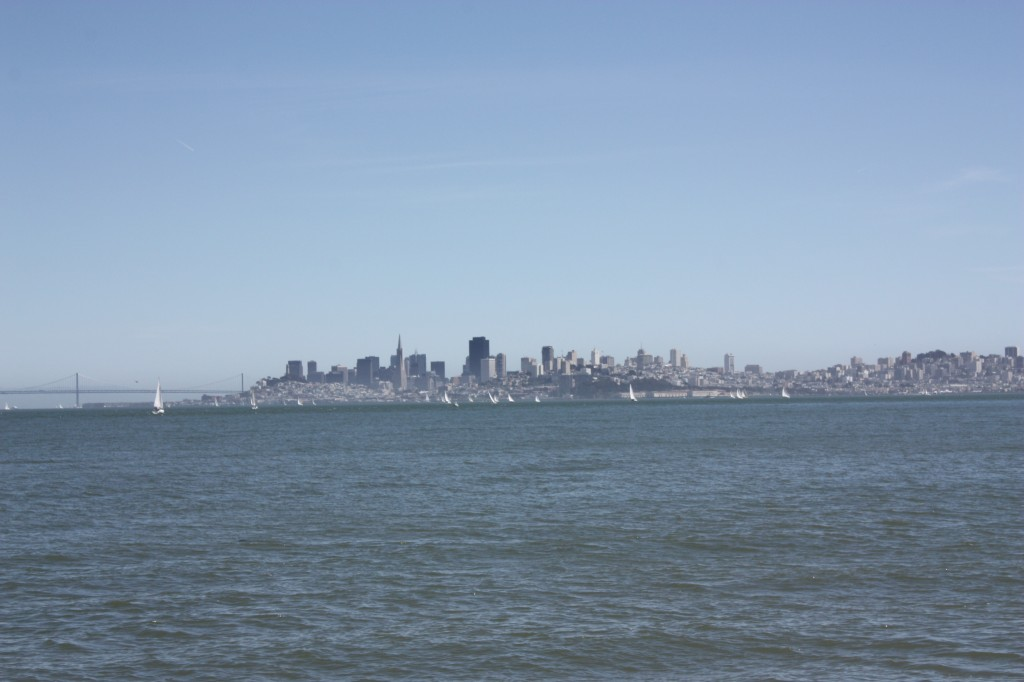 The view of San Francisco from Sausalito.