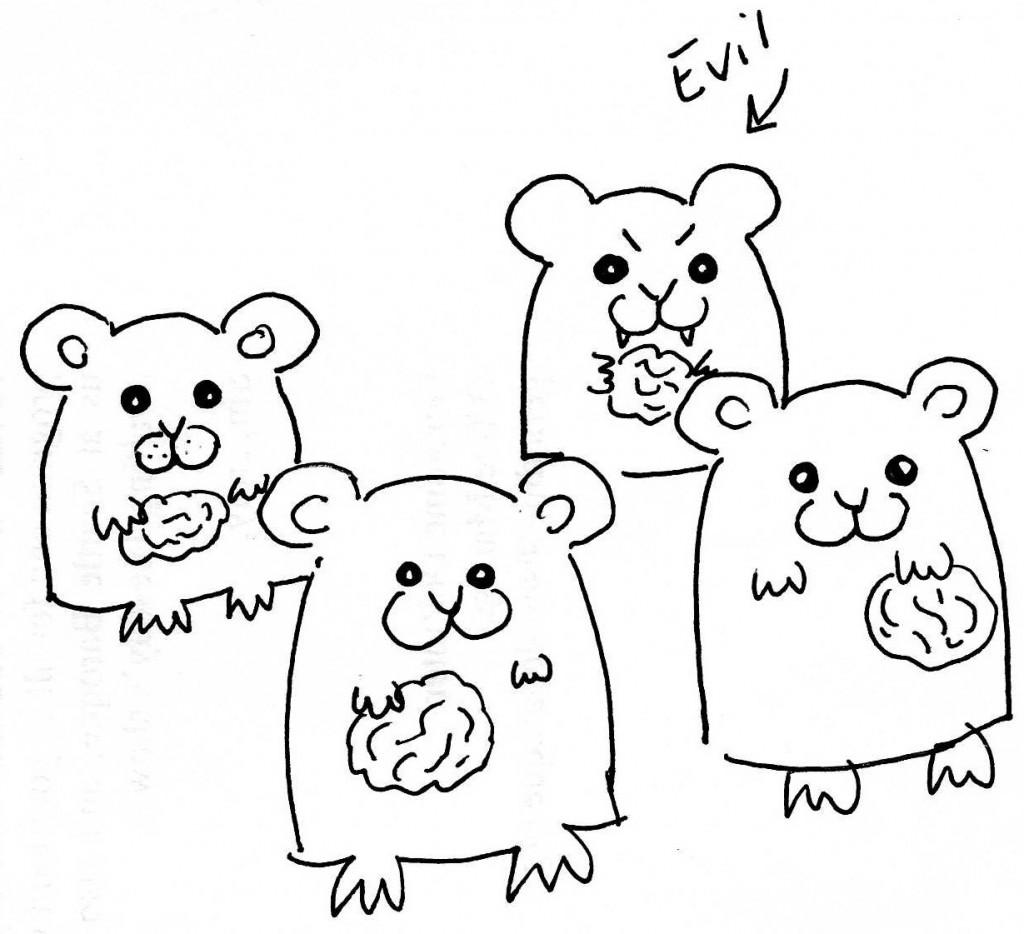 Everyone knows that one out of every four hamsters is evil. It's a fact.