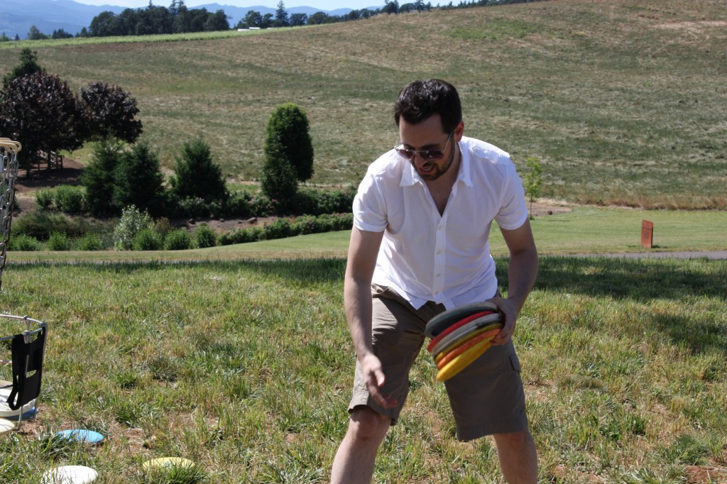 Also on the list: playing frisbee golf while channeling Don Draper.