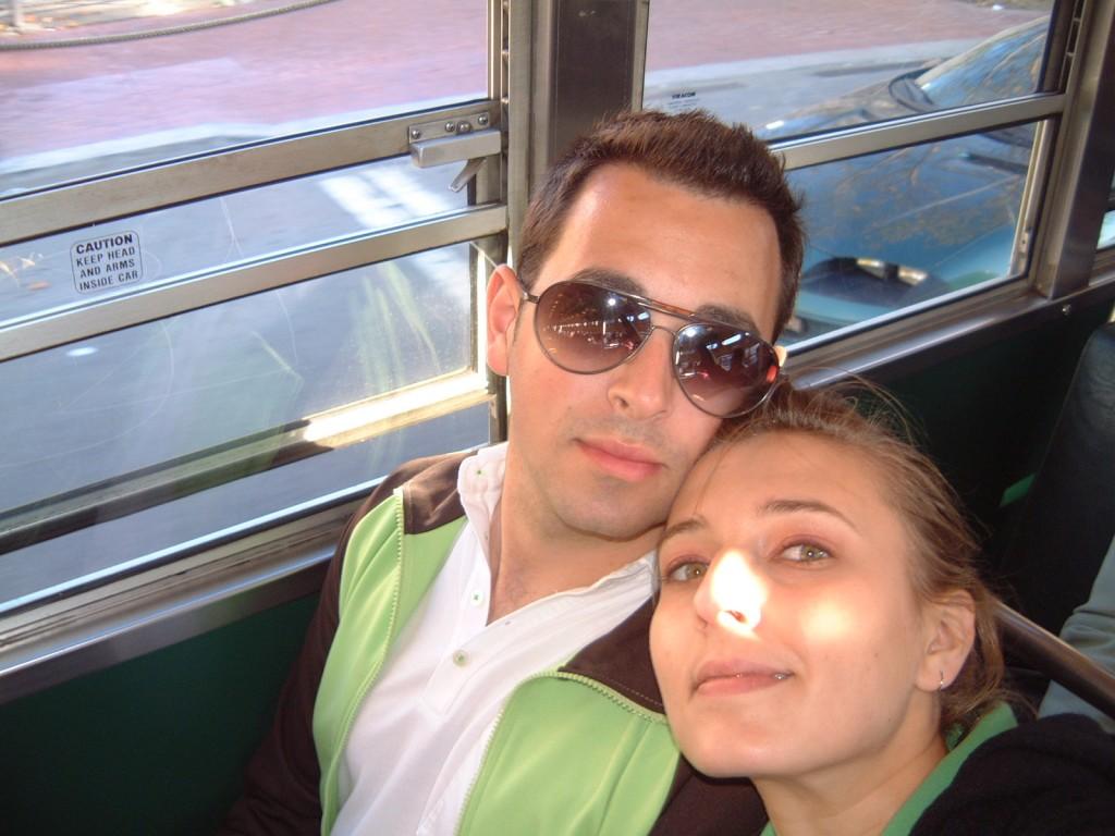 2005: with my boyfriend.