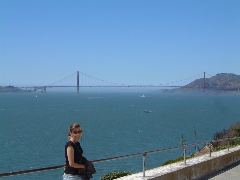 2005: In front of the Golden Gate Bridge
