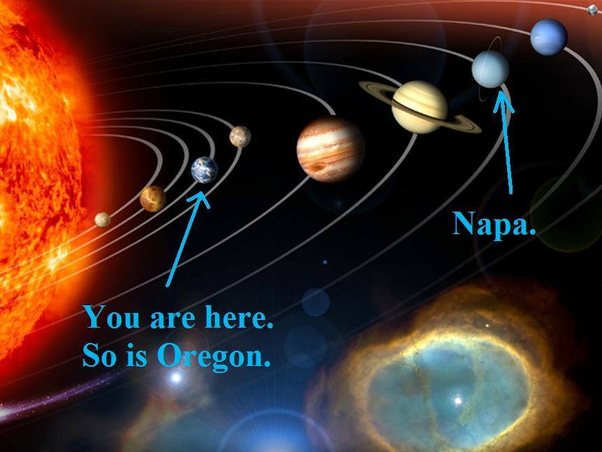 Hee hee. It's on Uranus.
