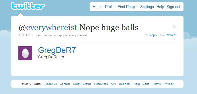Greg Twitter Fully Body Scanner Huge Balls reply