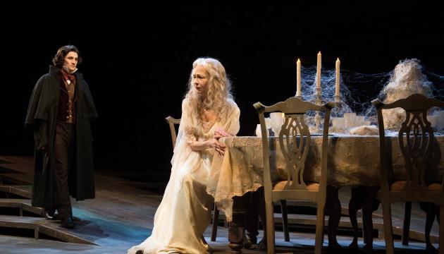 Benjamin Bonenfant as Pip and Judith Marie Bergen as Miss Havisham in Great Expectations. Photo: Jenny Graham.